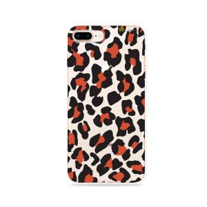 Capa para iPhone 7 Plus - Animal Print Red
