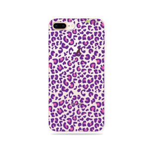 Capa para iPhone 7 Plus - Animal Print Purple