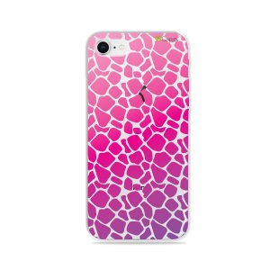 Capa para iPhone 8 - Animal Print Pink