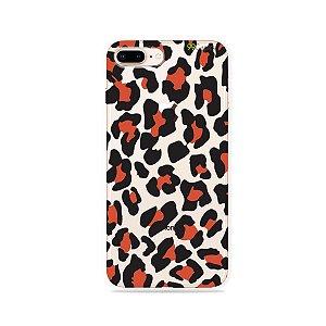 Capa para iPhone 8 Plus - Animal Print Red