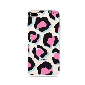 Capa para iPhone 8 Plus - Animal Print Black & Pink