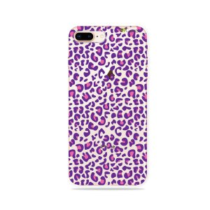 Capa para iPhone 8 Plus - Animal Print Purple