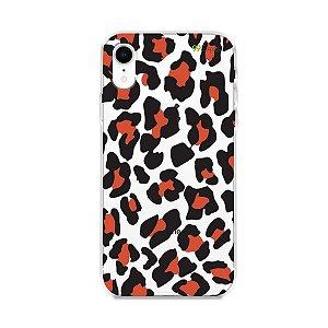 Capa para iPhone XR - Animal Print Red