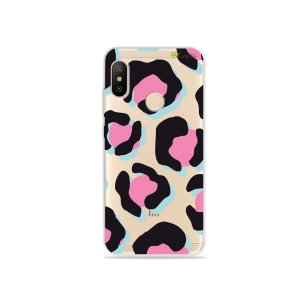 Capa para Xiaomi Mi A2 Lite - Animal Print Black & Pink