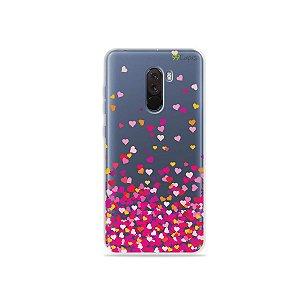 Capa para Xiaomi Pocophone F1 - Corações Rosa