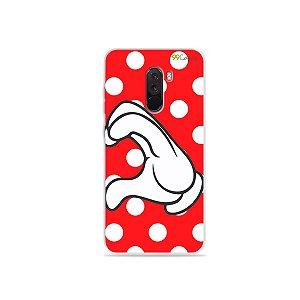 Capa para Xiaomi Pocophone F1 - Coração Minnie