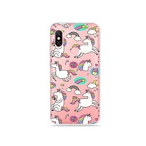 Capa para Xiaomi Redmi Note 6 Pro - Unicórnios Felizes