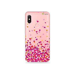 Capa para Xiaomi Redmi Note 6 Pro - Corações Rosa