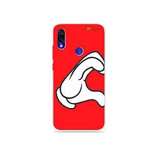 Capa para Xiaomi Redmi 7 - Coração Mickey