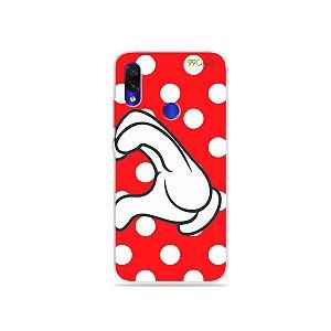 Capa para Xiaomi Redmi 7 - Coração Minnie