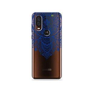 Capa para Moto One Vision - Mandala Azul