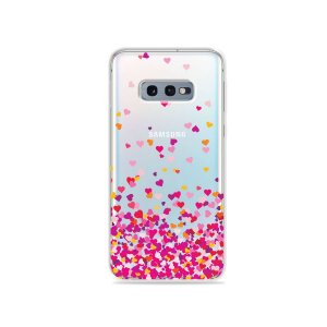 Capa para Galaxy S10e - Corações Rosa