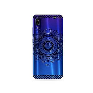 Capa para Xiaomi Redmi Note 7 - Mandala Preta