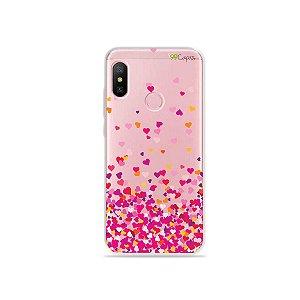 Capa para Xiaomi Redmi Note 6 - Corações Rosa