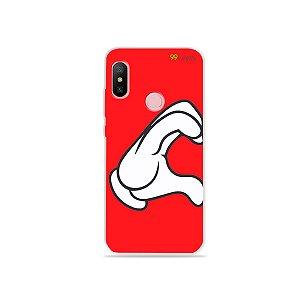 Capa para Xiaomi Redmi Note 6 - Coração Mickey