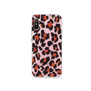 Capa para Xiaomi Redmi Note 6 - Animal Print Red
