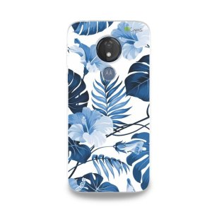 Capa para Moto G7 Power - Flowers in Blue