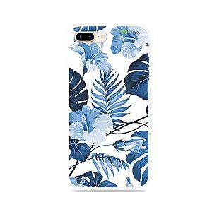 Capa para iPhone 7 Plus - Flowers in Blue