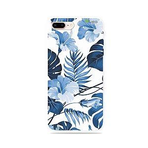 Capa para iPhone 8 Plus - Flowers in Blue