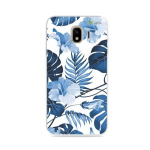 Capa para Galaxy J4 2018 - Flowers in Blue