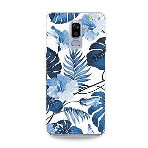 Capa para Galaxy J8 - Flowers in Blue