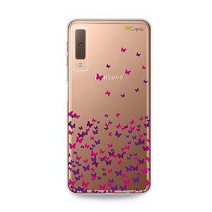 Capa para Galaxy A7 2018 - Borboletas Flutuantes