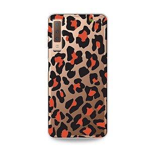 Capa para Galaxy A7 2018 - Animal Print Red