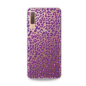 Capa para Galaxy A7 2018 - Animal Print Purple