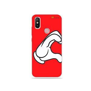 Capa para Xiaomi Mi A2 - Coração Mickey