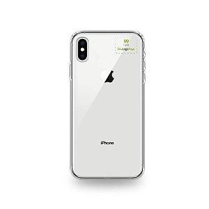 Capa Anti-shock transparente para iPhone com sua logo no canto superior direito