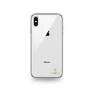 Capa Anti-shock transparente para iPhone com sua logo no canto inferior direito