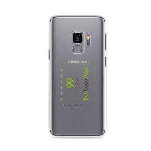 Capa Anti-shock transparente para Galaxy S com sua logo no meio