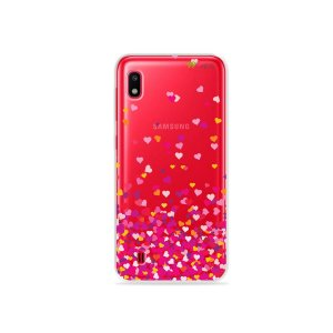 Capa para Galaxy A10 - Corações Rosa