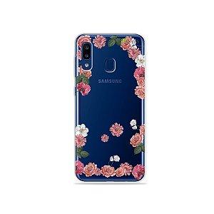 Capa para Galaxy A20 - Pink Roses