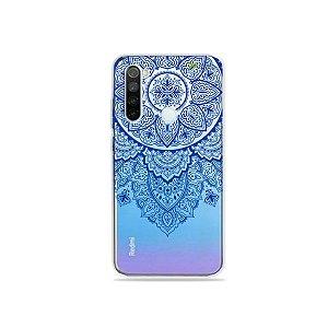 Capa para Xiaomi Redmi Note 8 - Mandala Azul