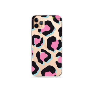 Capa para iPhone 11 Pro Max - Animal Print Black & Pink