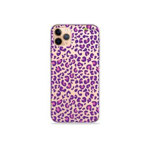Capa para iPhone 11 Pro Max - Animal Print Purple