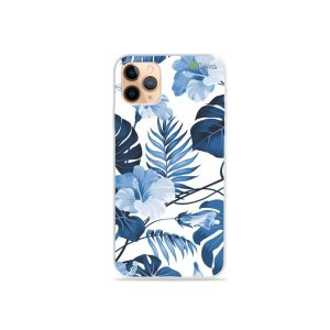 Capa para iPhone 11 Pro Max - Flowers in Blue