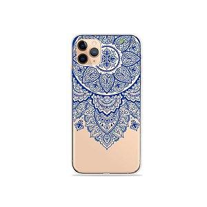 Capa para iPhone 11 Pro Max - Mandala Azul