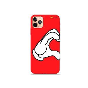 Capa para iPhone 11 Pro Max - Coração Mickey