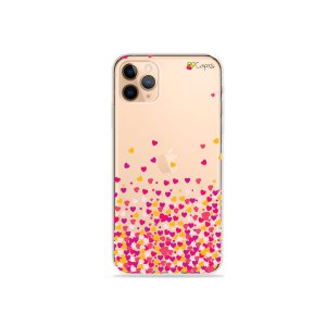 Capa para iPhone 11 Pro Max - Corações Rosa