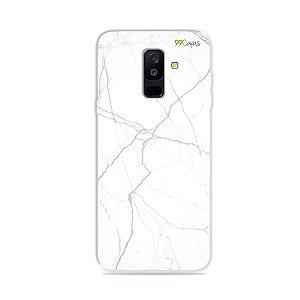 Capa para Galaxy A6 Plus - Marble White