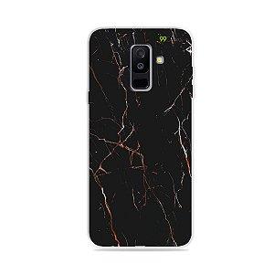 Capa para Galaxy A6 Plus - Marble Black