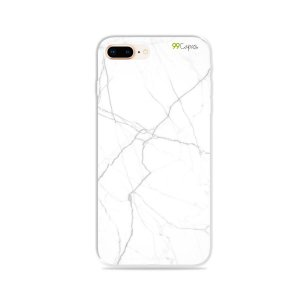 Capa para iPhone 8 Plus - Marble White