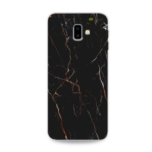 Capa para Galaxy J6 Plus - Marble Black