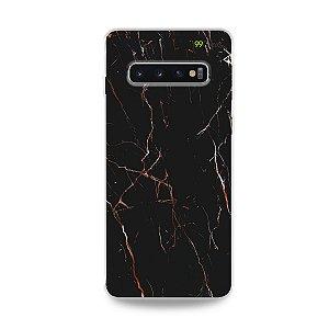 Capa para Galaxy S10 Plus - Marble Black
