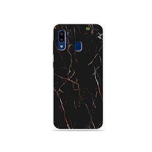 Capa para Galaxy A20 - Marble Black