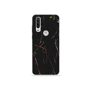 Capa para Moto One Action - Marble Black