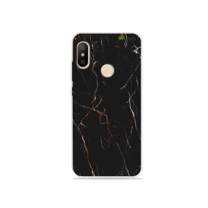 Capa para Xiaomi Mi A2 Lite - Marble Black