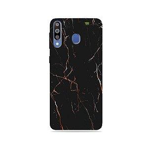 Capa para Galaxy M30 - Marble Black